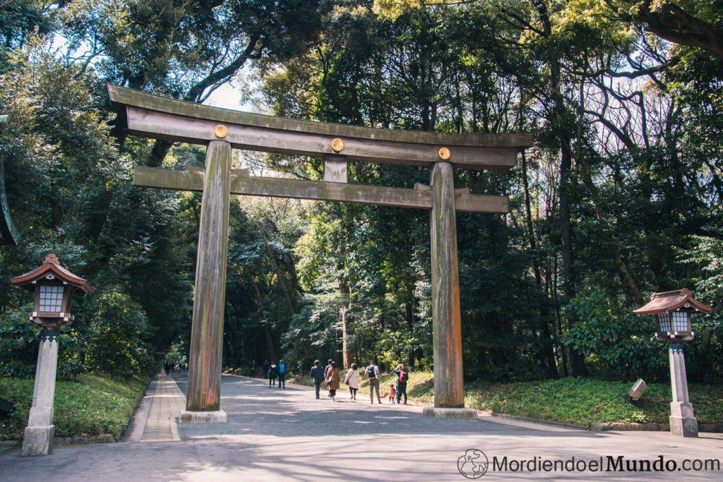 Torii templo Meiji en Tokio