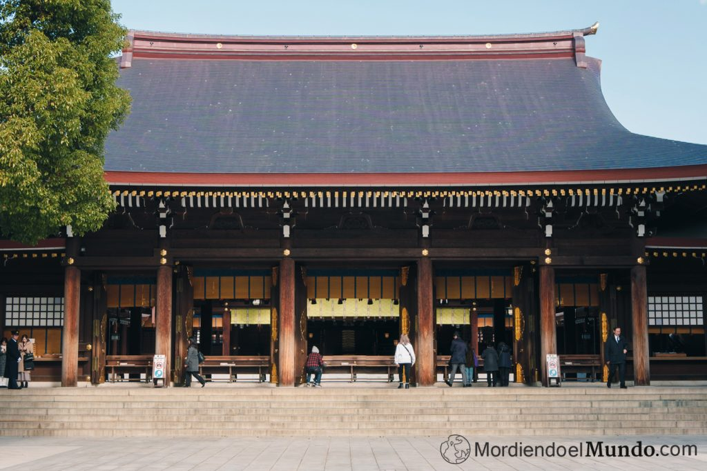 Edificio principal del santuario Meiji en Tokio