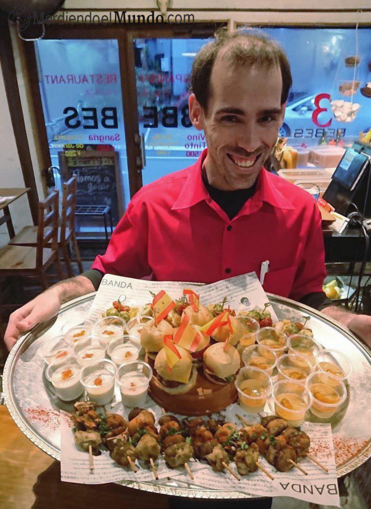 Trabajando en bar español en Japon