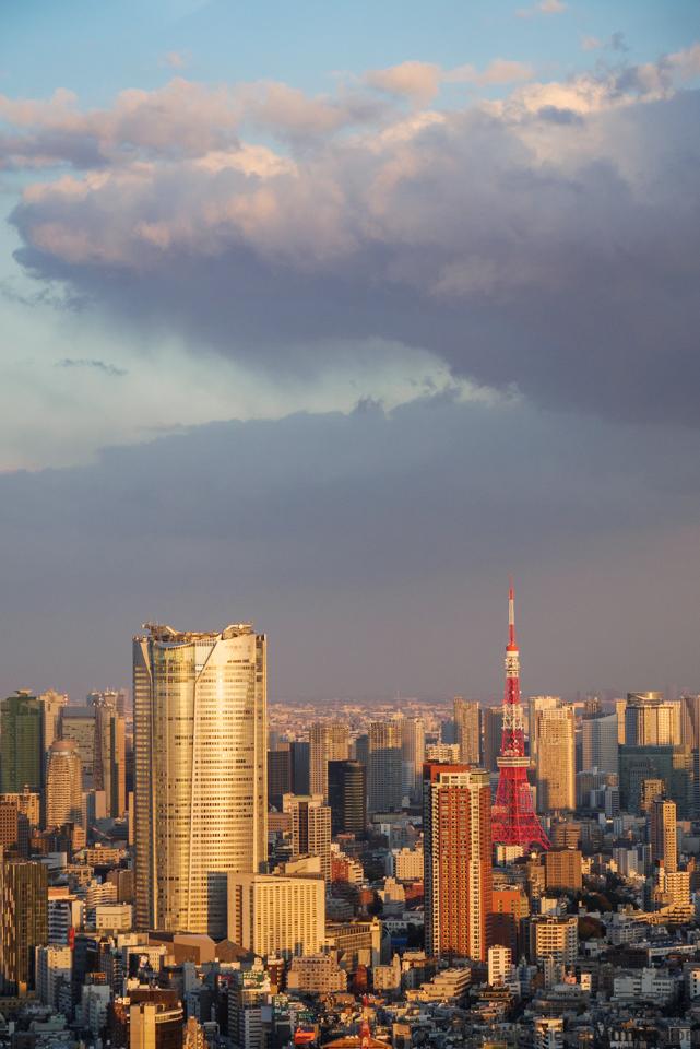 Torre Mori y Tokyo Tower vistas desde el observatorio Shibuya Sky