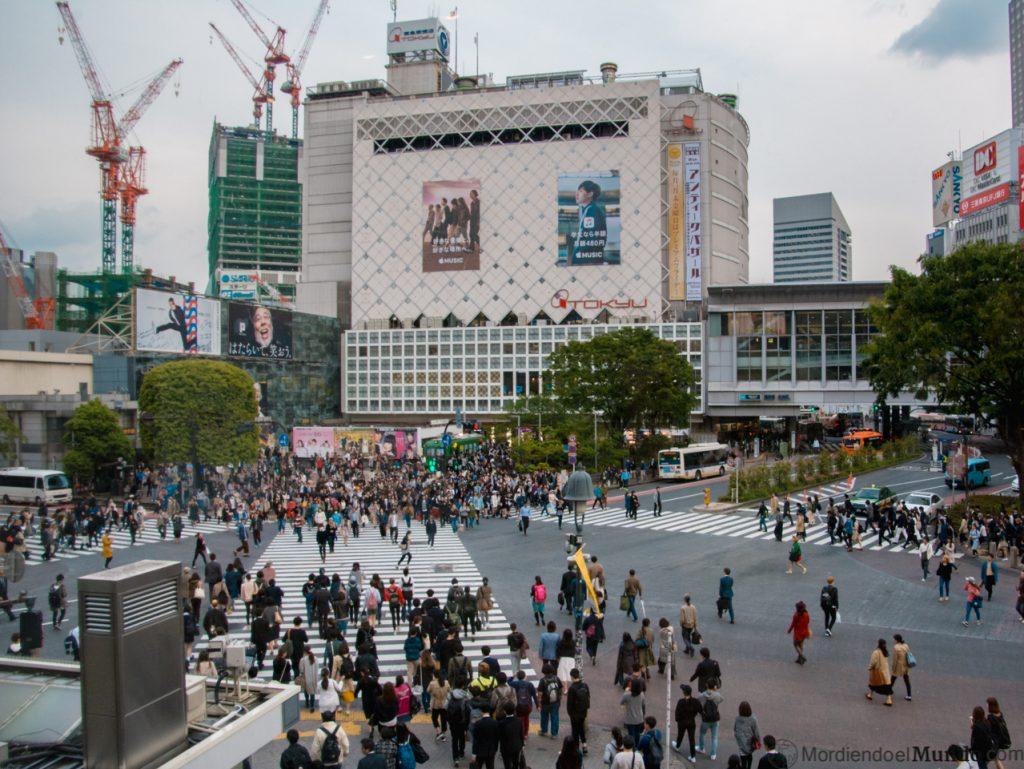 El cruce de Shibuya visto desde el Starbucks