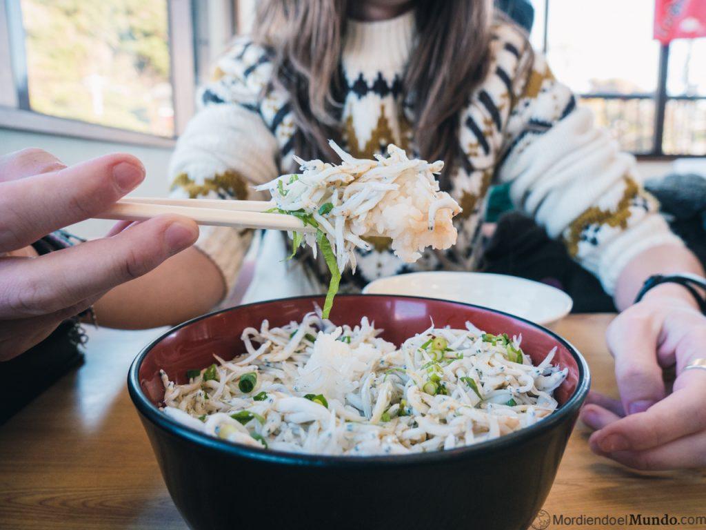 Bol de arroz shirasu don
