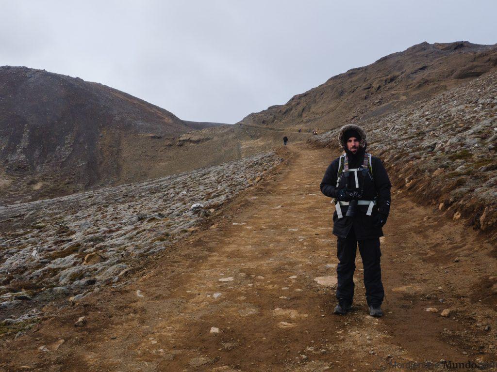 Camino de subida hasta el volcán Fagradalsfjall